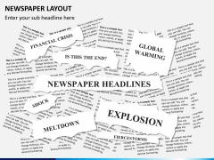 Newspaper layout PPT slide 3