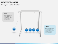 Newton's cradle PPT slide 1
