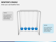 Newton's cradle PPT slide 2