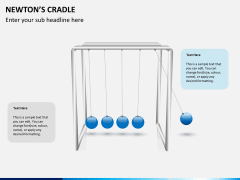 Newton's cradle PPT slide 3