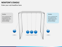Newton's cradle PPT slide 4