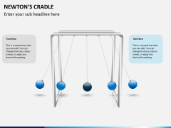 Newton's cradle PPT slide 5