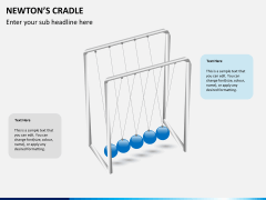 Newton's cradle PPT slide 7