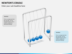Newton's cradle PPT slide 8