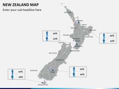 New zealand map PPT slide 15