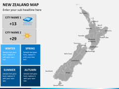 New zealand map PPT slide 17