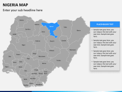 Nigeria map PPT slide 10
