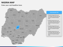 Nigeria map PPT slide 11