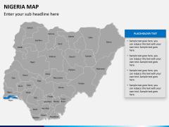 Nigeria map PPT slide 12