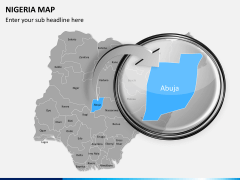 Nigeria map PPT slide 13