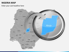 Nigeria map PPT slide 13