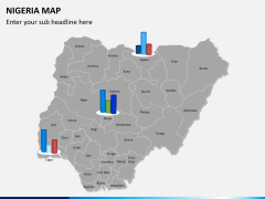 Nigeria map PPT slide 15