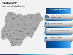 Nigeria map PPT slide 16