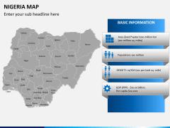 Nigeria map PPT slide 16