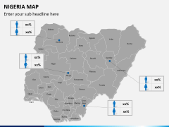 Nigeria map PPT slide 17