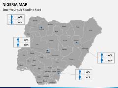 Nigeria map PPT slide 17