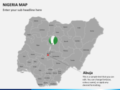 Nigeria map PPT slide 18