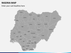 Nigeria map PPT slide 2