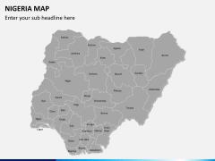 Nigeria map PPT slide 2