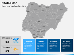 Nigeria map PPT slide 20