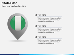 Nigeria map PPT slide 21