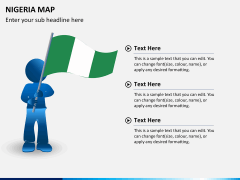 Nigeria map PPT slide 22