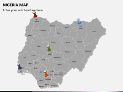 Nigeria map PPT slide 3