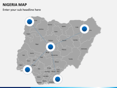 Nigeria map PPT slide 4