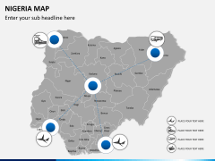 Nigeria map PPT slide 5