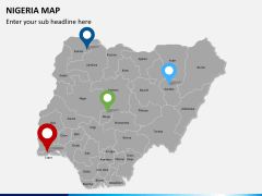 Nigeria map PPT slide 6