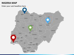 Nigeria map PPT slide 6
