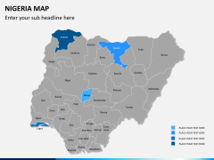 Nigeria map PPT slide 8