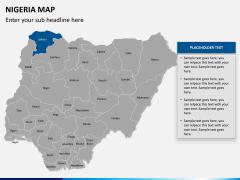 Nigeria map PPT slide 9