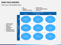 Nine field matrix PPT slide 3