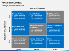 Nine field matrix PPT slide 4