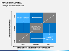 Nine field matrix PPT slide 5