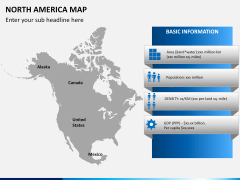 North america map PPT slide 10