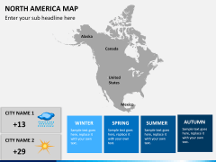 North america map PPT slide 11
