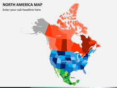 North america map PPT slide 2
