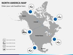 North america map PPT slide 6