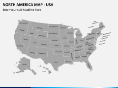 North america map PPT slide 7