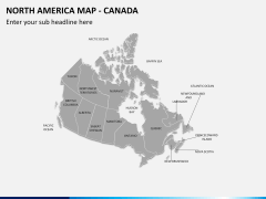 North america map PPT slide 8