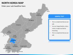 North korea map PPT slide 10