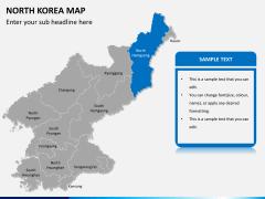 North korea map PPT slide 11