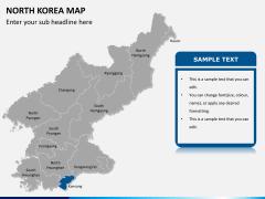 North korea map PPT slide 12