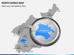 North korea map PPT slide 13