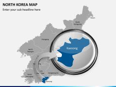 North korea map PPT slide 14