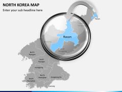 North korea map PPT slide 15
