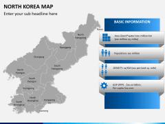 North korea map PPT slide 17
