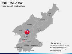 North korea map PPT slide 19